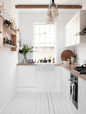 Wystrój wnętrz biała kuchnia